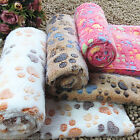 Comfortable Warm Winter Pet Mat Paw Print Pet Dog Cat Fleece Soft Blanket Bed