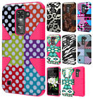 For LG Treasure LTE IMPACT TUFF HYBRID Protector Case Rubber Skin Phone Cover