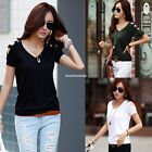 Summer Women Casual Short Sleeve Loose Chiffon T-shirt Tops Shirt Blouse EN24H