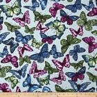 BUTTERFLY FOREST LARGE BLUE CRAFT QUILT SEWING FABRIC ** Free Oz Post **