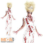 Prom Queen Zombie Ladies Halloween Fancy Dress Undead Womens Adults Costume New