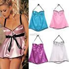 Women V-Neck Backless Nightwear Babydoll Lingerie Dress G-string Sleepwear S0BZ