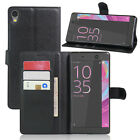 9 Colors Leather Case Flip Wallet Cover For Sony Xperia C6 ultra 6.0""