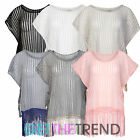 Womens Knitted Oversized Kaftan Ladies Summer Loose Knit Tassle Fringe Tunic Top