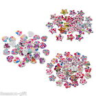 100PCs Mixed Wood Buttons Floral Leaf Pattern Buttons 2 Hole