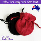 Luxury 100 DOUBLE Sided Velvet Jewellery Gift Pouch Bag-7.5x9cm | AUSSIE Seller