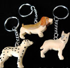 DOG KEYRING HANDMADE IN DIFFERENT COLOURED WOOD CHOOSE DESIGN /BREED!