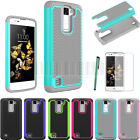 Rugged Tough Shockproof Protective Cover Hybrid Silicone Gel Case For LG K8 LTE