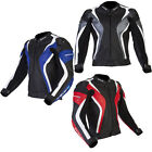 Spada Curve Leather CE Amoured Motorbike Motorcycle Mesh Lined Vented Jacket