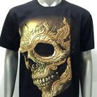 d5 Rock Chang 3D T-shirt Tattoo STUD Glow in Dark Skull Ghost Demon Men Casual