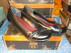 NIB Route 66 Wedge Heel Shoes  Man Made Uppers Sloan Black  Medium Width