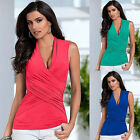 Sexy Women Summer Vest Top Sleeveless V-neck Blouse Casual Tank Tops T-Shirt New