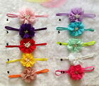 "10pcs Baby kids princess 3"" Chiffon Flowers Elastic Lace Crochet Headbands"