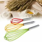 Stainless Handle Silicone Whisk Balloon Wire Quick Egg Beater Mixer Kitchen Tool