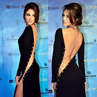 Women Sexy Black Party Cocktail Formal Evening Long Dress High Slit Prom Gown