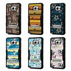 For Galaxy Note 4 TUFF Hybrid Stand Rubber Hard Case Black Black 5Colors