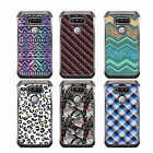 For LG K10 DSC HYBRID TPU Hard Case Silver White 7Colors