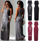CHIC New Sexy Women Summer Long Maxi Evening Party Printing Dress Beach Dress