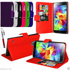 For Samsung Galaxy S5 Neo Wallet Case Cover And Stylus Pen