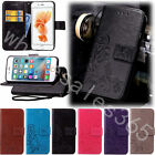 Embossed Four Leaf Clover PU Leather Wallet Stand Case Cover F Multi Phone+Starp