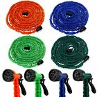 Deluxe 25 50 75 100 Feet Expandable Flexible Garden Water Hose w/ Spray Nozzle cheap