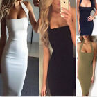 1 Pc Sexy Ladies Sleeveless Bodycon Dress Halter Backless Sling Mini Dress