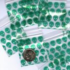 "Green Aliens baggies 1.5 x 1.5"" Apple mini ziplock  bags 100 200 500 1000"
