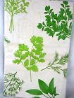 Assorted Sizes Cottage Garden Fresh Green Herbs Vinyl Tablecloth FREE SHIPPING
