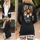 1 Pc Long Sleeved Crochet Skull Backless Top Multi-color Knitwear Women Cardigan