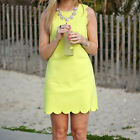 1 Pc Women Summer Sleeveless Solid Color Mini Dress Causal A-line Dress