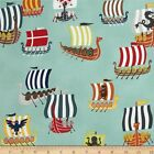 VIKING FLEET BLUE ALEXANDER HENRY QUILT SEWING FABRIC ** Free Oz Post ***