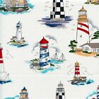 TOWERS OF THE SEA LIGHTHOUSE ALEXANDER HENRY QUILT SEWING FABRIC Free Oz Post *