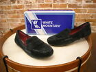 White Mountain Skipper Black Suede Mocassin Loafers NEW