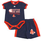 Boston Red Sox Infant Baby 2-Piece Creeper and Shorts Gift Set