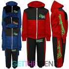 Boys Hooded Top & Bottoms Tracksuit Kids Deluxe NYC Full Outfit Set Suit Fleece