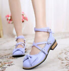 L Sweet Princess Womens Buckle Ankle Cross Strap Mary Janes Lolita Cosplay Shoes