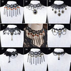 WOMEN GOTHIC NECK BURLESQUE LACE VICTORIAN CHOKER STEAMPUNK NECKLACE Gift EW
