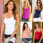 UK Sexy Womens Summer Casual Vest Top Sleeveless Shirt Blouse Tank Tops T-Shirt