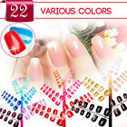 Colored False French Nails Acrylic Artificial Nail Art Tips Full Cover
