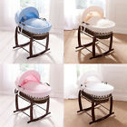 Clair de Lune Marshmallow Dark Wicker Moses Basket