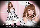 lolita cosplay angel beats heart flare sleeve maid dress w/ top hat HA144 W