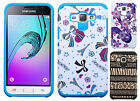 Samsung Galaxy Express 3 HARD Hybrid Rubber Silicone Case Cover + Screen Guard