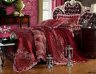 Satin Lace Quilt Doona Duvet Cover Set Queen/King Size Bed Pillowcases Set New