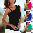 Fashion Sexy Women Sleeveless Casual Vest One Shoulder T-Shirt Tops Blouse New A