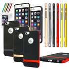 Protective Soft Frame Bumper Hybrid Rubber Case Cover Skin for iPhone 6S 6 Plus