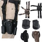 Miltary Quick Tactical Army Pistol Gun Leg Belt Drop Holster Magazine Pouch Hold