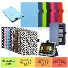 "PU Leather Folio Case Cover Stand For Amazon Kindle Fire HD 7"" NEW HDX 7"" & 8.9"""