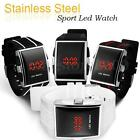 Fashion Vintage Women's Men's LED Digital Date White/Black Sports Wrist Watch