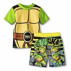 Teenage Mutant Ninja Turtles Rash Guard And Swim Trunks Set Boy Size 5T