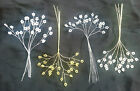 6 cluster sprays - white pearl, ivory pearl, gold or silver - cakes or floristry